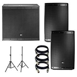 JBL EON 615 15 in Powered PA Speaker Pair Bundle + JBL EON61