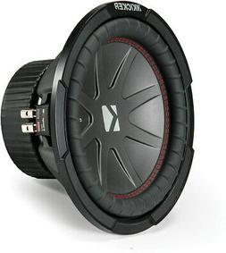 """Kicker - Compr 10"""" Dual-voice-coil 4-ohm Subwoofer - Black"""