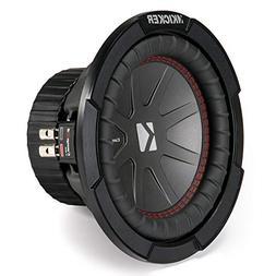 """Kicker - Compr 8"""" Dual-voice-coil 2-ohm Subwoofer - Black"""