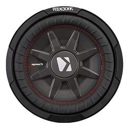 """Kicker - Comprt12"""" Dual-voice-coil 2-ohms Subwoofer - Black"""