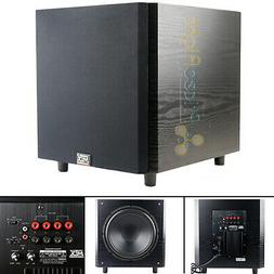 "Mtx - 12"" 150w Powered Subwoofer - Black Ash Vinyl"