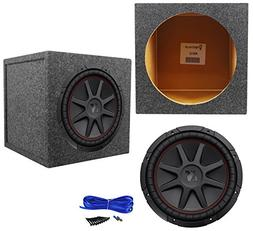 "Package: Kicker 43CVR124 12"" 800W Dual Voice Coil 4-Ohm Car"