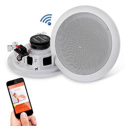 """Pyle Pair 6.5"""" Bluetooth Flush Mount In-wall In-ceiling 2-"""