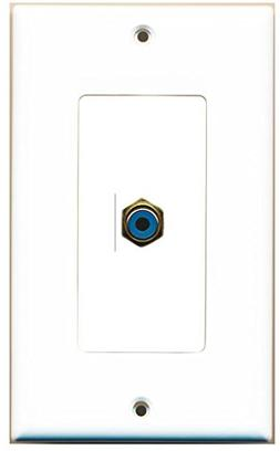 RiteAV - 1 RCA Blue for Subwoofer Audio Port Wall Plate Deco
