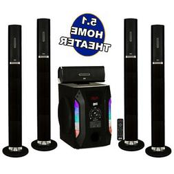 Acoustic Audio AAT1002 Tower 5.1 Home Speaker System with 8""