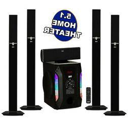 Acoustic Audio AAT1003 Tower 5.1 Home Speaker System with 8""