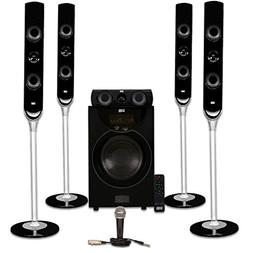 Acoustic Audio AAT2000 Tower 5.1 Bluetooth Speaker System wi