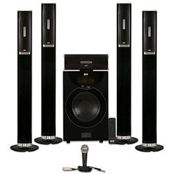 Acoustic Audio AAT2002 Tower 5.1 Bluetooth Speaker System wi