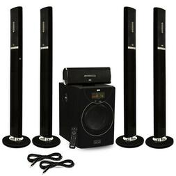 Acoustic Audio AAT2002 Tower 5.1 Bluetooth Speaker System an