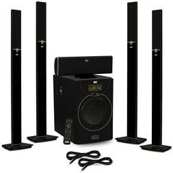 Acoustic Audio AAT2003 Tower 5.1 Bluetooth Speaker System an