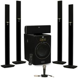 Acoustic Audio AAT2003 Tower 5.1 Bluetooth Home Speaker Syst
