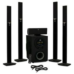 Acoustic Audio AAT3003 Tower 5.1 Bluetooth Speaker System an