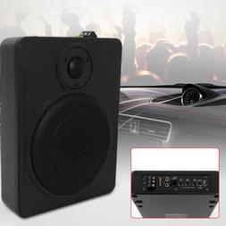 8'' 600W Under-Seat Car Subwoofer Powered Bass Amplifier Sli