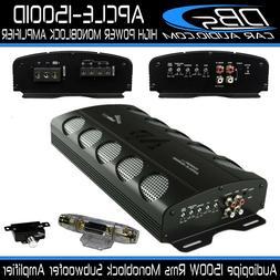 Monoblock Subwoofer Amplifier 1500W Rms Mono Bass Sub Amp Au