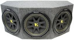 "ASC Package Triple 12"" Kicker Sub Box Sealed Rearfire Subwoo"