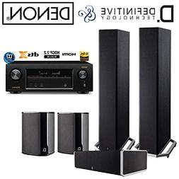 Denon AVR-X1300W Receiver Bundle with Definitive Technology