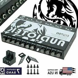 Audiotek EQ700 1/2 Din 7 Band Car Audio Equalizer EQ w/ Fron