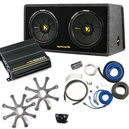 Kicker Bass package Dual 12 CompS in a ported box with CX600