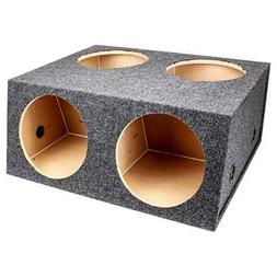 Q Power BASS12 4HOLE T 12-Inch Sealed Divided Speaker Box