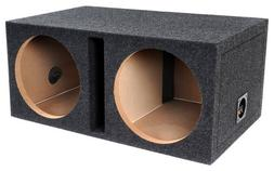 "Bbox E15DSV Dual 15"" Shared Vented Carpeted Subwoofer Enclos"