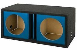 "Bbox ZV12D-BLUE 12"" Dual Vented Kandy Blue Subwoofer Enclosu"