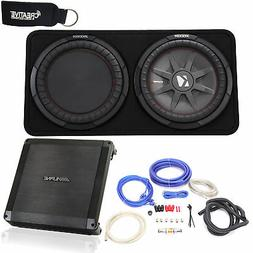 Alpine BBX-T600 Amplifier and Kicker CompRT12 12-inch Subwoo