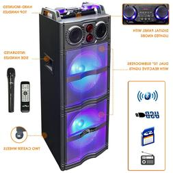 "BEFREE Dual 10"" Inch SUBWOOFER BLUETOOTH PORTABLE PARTY DJ S"