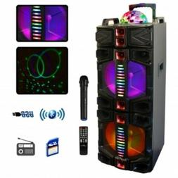 BeFree Sound Dual 12 In Subwoofer Bluetooth Portable Party S