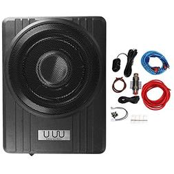 10 Inch 12V 250W Black Ultra-Thin Under Seat Car Active Sub