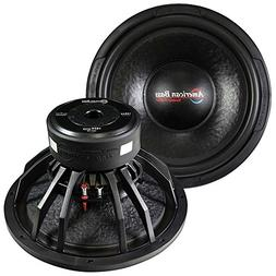Black American Bass 15 Inch Woofer 1600 Watts Max 4 Ohm Dvc