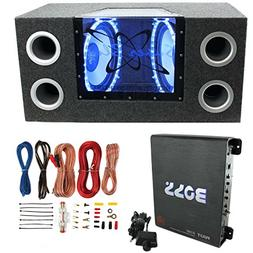 "Pyramid BNPS102 10"" 1000W Dual Car Subwoofers + Box + 1100W"
