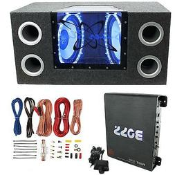"""Pyramid BNPS122 12""""1200W Car Audio Subwoofer + Box + 1100W M"""