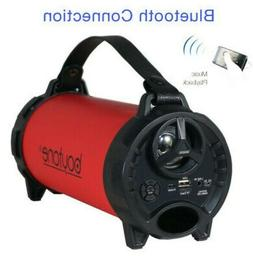 Boytone BT-40 Red Portable Bluetooth Indoor/Outdoor SubWoofe