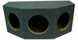 Car Audio 3 Triple 10-Inch Sealed Subwoofer Enclosure Stereo
