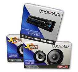 KENWOOD Car Audio Package Deal::1 Unit) KDC-BT362U + 2 Pairs
