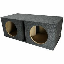 "Car Audio Dual 10"" Vented Subwoofer Stereo Sub Box Ported En"