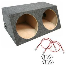 Car Audio Dual 10 Inch Sealed Car Subwoofer Carpeted Bass Sp