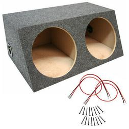 Car Audio Dual 12 Inch Sealed Sub Box Stereo Subwoofer Bass