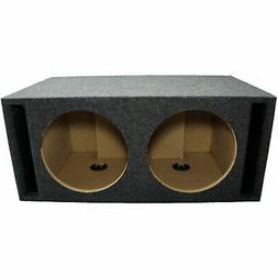 "Car Audio Dual 12"" SPL Bass Subwoofer Labyrinth Vent Sub Box"