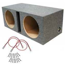 Car Audio Dual 15 Inch Ported Subwoofer Enclosure Stereo Bas