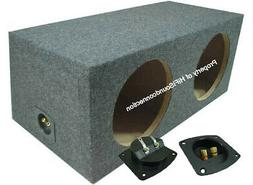 Car Audio Dual 15-Inch Subwoofer Enclosure Sealed Bass Stere
