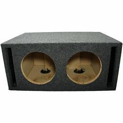 "Car Audio Dual 8"" SPL Bass Subwoofer Labyrinth Vent Sub Box"