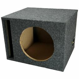 """Car Audio Single 10"""" Vented Subwoofer Stereo Sub Box Ported"""