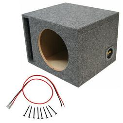 "Car Audio Single 12"" Vented Port Subwoofer Enclosure Bass Md"