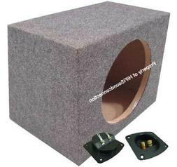 Car Audio Single 15-Inch Sealed Subwoofer Enclosure Bass Ste