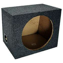 "Car Audio Single 12"" Sealed Subwoofer Rear Angle Sub Box Enc"