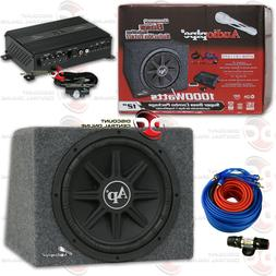"""AUDIOPIPE CAR PACKAGE DEAL 12"""" SUBWOOFER ENCLOSURE + MICRO A"""