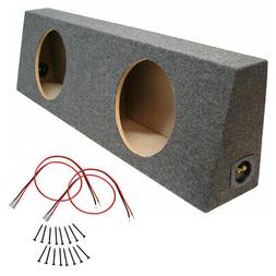 """Car Stereo Dual 12 Inch Sealed Truck Subwoofer Enclosure 12"""""""