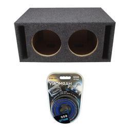 "Car Stereo Dual 8"" Slot Ported Labyrinth Sub Box Subwoofer 3"