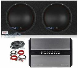 "MTX 5515-44 15"" 1600w Car Subwoofers+Sealed Sub Box+Mono Am"